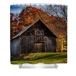 The Chester Farm Shower Curtain by Tricia Marchlik
