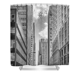 Shower Curtain featuring the photograph The Chicago Loop by Howard Salmon