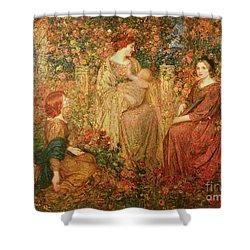 The Child Shower Curtain by Thomas Edwin Mostyn