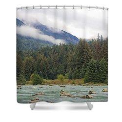 The Chillkoot River 2 Shower Curtain