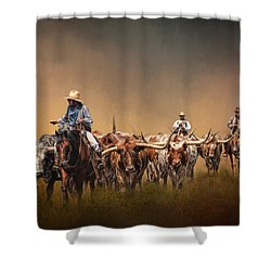 The Chisolm Trail Shower Curtain by David and Carol Kelly