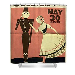 The Chocolate Soldier - Vintage Poster Folded Shower Curtain