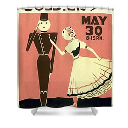 The Chocolate Soldier - Vintage Poster Restored Shower Curtain
