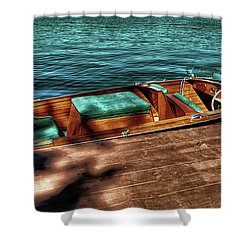 The Chris Craft Continental - 1958 Shower Curtain