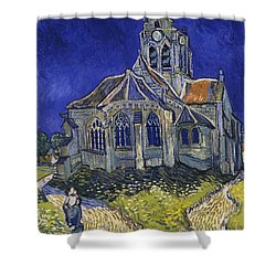 Shower Curtain featuring the painting The Church At Auvers by Van Gogh