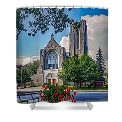 The Church In Summer Shower Curtain