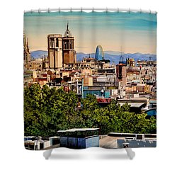 The Church's Of Barcelona Shower Curtain