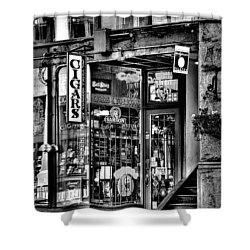 The Cigar Store Shower Curtain by David Patterson