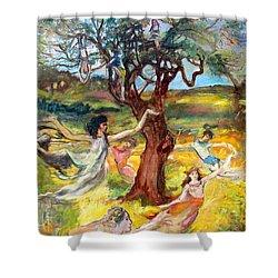 the Cinnamon Tree Shower Curtain