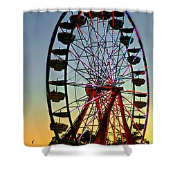 The Circle Game Shower Curtain