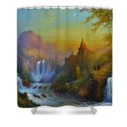 The Citadel Under The Moon Shower Curtain