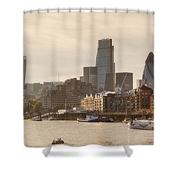 The City At Dusk Shower Curtain