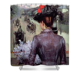 The City Atlas Shower Curtain by Sidney Starr