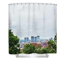 Shower Curtain featuring the photograph The City Beyond by Shelby Young