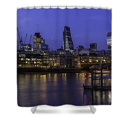 The City From The Southbank Shower Curtain