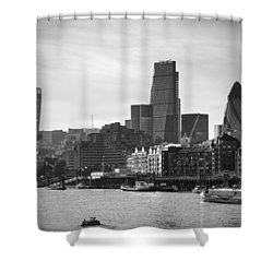 The City In Mono Shower Curtain
