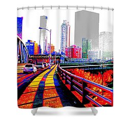 The City  Shower Curtain