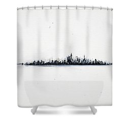 The City New York Shower Curtain