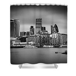 The City Of London Mono Shower Curtain