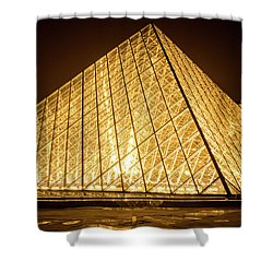 The City Of Paris At Night Shower Curtain