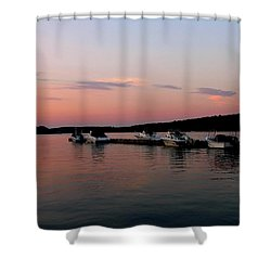 The City Of Ships Shower Curtain