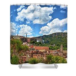 Shower Curtain featuring the photograph The City Of Tarragona And A Beautiful Sky by Eduardo Jose Accorinti