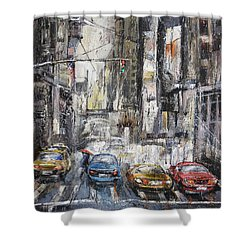The City Rhythm Shower Curtain