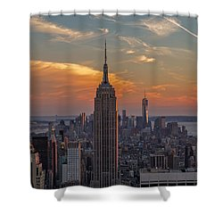 Shower Curtain featuring the photograph The City That Never Sleeps  by Anthony Fields