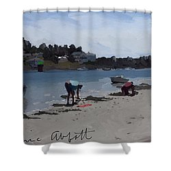 The Clam Diggers - Annisquam River  Shower Curtain