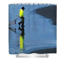The Clammer Shower Curtain
