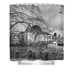Shower Curtain featuring the photograph The Claremont by Jeremy Lavender Photography