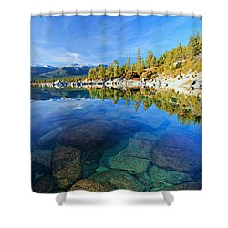 The Clarity Of Lake Tahoe Shower Curtain