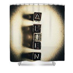 The Classified Alien Lie Shower Curtain