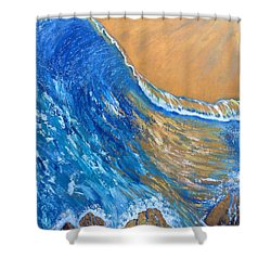 The Cleansing Shower Curtain by Jacqueline Martin