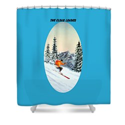 The Clear Leader Skiing Shower Curtain by Bill Holkham