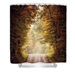 The Clearing Shower Curtain by Lisa Russo