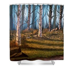 The Clearing Shower Curtain by Sheri Keith