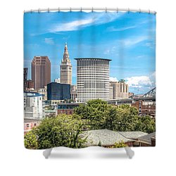The Cleveland Skyline Shower Curtain