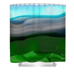 The Hilltop View Shower Curtain