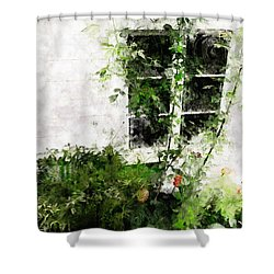 The Climb Shower Curtain by Claire Bull