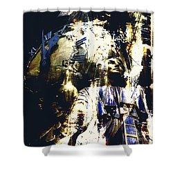 Shower Curtain featuring the photograph The Clock Struck One by LemonArt Photography