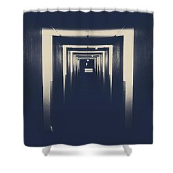 The Closed Doors Shower Curtain by Jerry Cordeiro