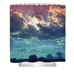 The Clouds, The Only Birds That Never Shower Curtain