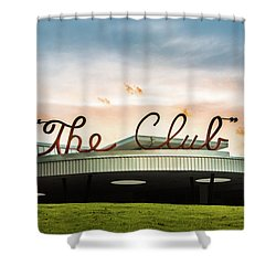 Shower Curtain featuring the photograph The Club Birmingham by Parker Cunningham