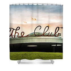 Shower Curtain featuring the photograph The Club Panorama by Parker Cunningham