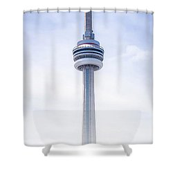 The Cn Tower Shower Curtain by Anthony Rego