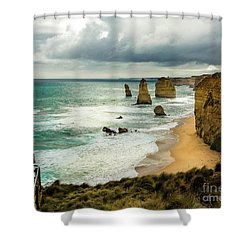 Shower Curtain featuring the photograph The Coast by Perry Webster