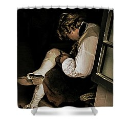 The Cobblers Window Shower Curtain