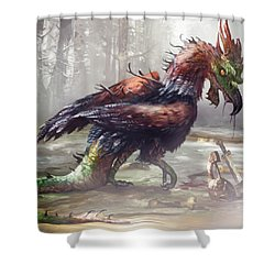 The Cockatrice Shower Curtain