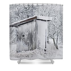 The Coldest Fifty Yard Dash Shower Curtain